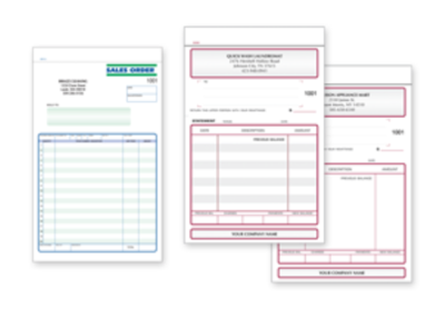 Sales Order Forms and Books